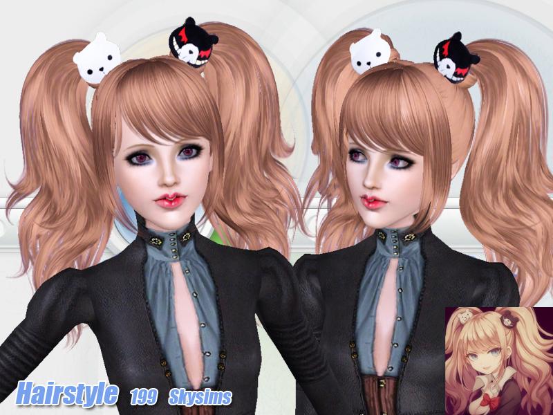Sims 4 Anime Characters Mod : Skysims hair adult