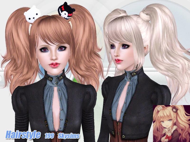 Причёски в стиле аниме для симс 4