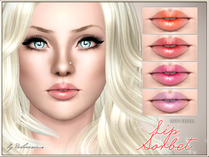 Sims 3 — Lip Sorbet WITH TEETH by Pralinesims — New realistic lipstick for your sims! Your sims will love their new look