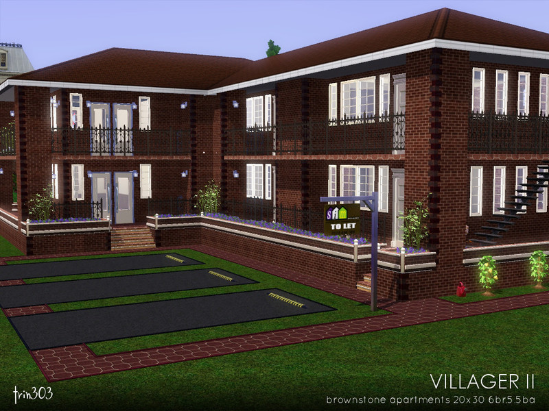 Trin303 39 s villager ii for Appartement design sims 3