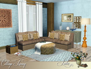 Sims 3 — Cottage Living by Lulu265 — A cosy living room with a cottage theme. A comfy room to grab a good book put your