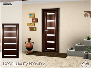 Sims 3 — Door Luxury Brown 2 by Devirose — Ideal for modern and minimal rooms.-Base Game Compatible,no need EP-Enjoy^^