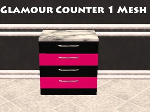 Sims 2 — Glamour Counter 1 Mesh by staceylynmay2 — 4 drawer counter