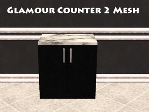 Sims 2 — Glamour Counter 2 Mesh by staceylynmay2 — 2 door counter