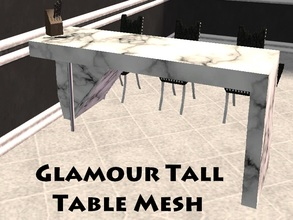 Sims 2 — Glamour Tall Table Mesh by staceylynmay2 — White marble top just like the counters. Goes perfectly well with the