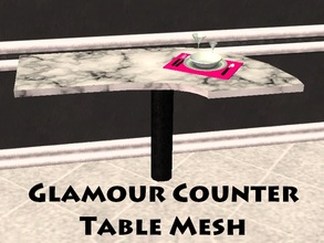 Sims 2 — Glamour Counter Table by staceylynmay2 — Half long corner table/counter.