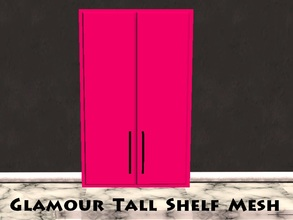 Sims 2 — Glamour Tall Shelf Mesh by staceylynmay2 — 2 door pink tall shelf. This can be found under Appliances -