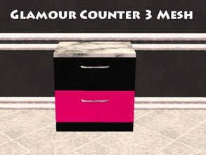 Sims 2 — Glamour Counter 3 Mesh by staceylynmay2 — 2 drawer counter. half pink and black