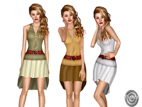 Sims 3 — Anytime -Dress-Adult by pizazz — A dress that can be worn for work or even putting on sandals and walking the