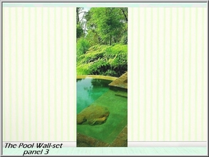 Sims 3 — The Pool 3_marcorse by marcorse — Beautiful meditation setting in mountain greenery - The Pool Wall-set part 3