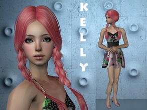 Sims 2 — Kelly by staceylynmay2 — Isn\'t she just beautiful with her pink hair! :) She comes with everything you see.And