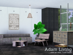 Sims 3 — Adam Living by Angela — Adam living, a new livingroom for your sims. Enjoy the style of rough wood. All parts