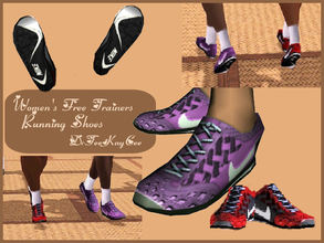Sims 3 — Women's Free Trainers Running Shoes by drteekaycee — These running shoes is the 3rd item from the Athletic Set.