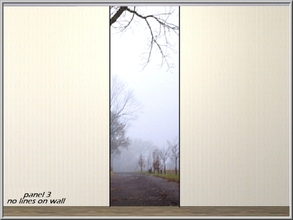 Sims 3 — Foggy Morning Road panel 3_marcorse by marcorse — Foggy morning roadside perspective. Wall-set panel 3 of 4