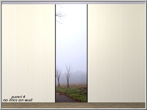 Sims 3 — Foggy Morning Road panel 4_marcorse by marcorse — Foggy morning roadside perspective. Wall-set panel 4 of 4