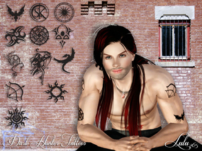 Sims 3 — Dark Hunter Tattoo Set by Lulu265 — These tattoo's are from the book series Dark- Hunter which is a paranormal