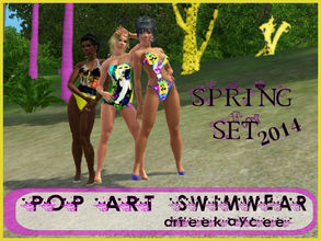 Sims 3 — -Pop Art Swimwear by drteekaycee — With the snow caps melting and the temperature rising your Sims is ready to