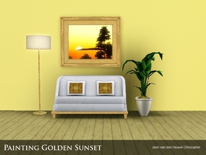 Sims 3 — Painting Golden Sunset by Jenn_Simtopia — Painting Golden Sunset. Comes with 6 frame options and frame is