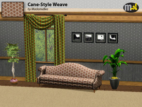 Sims 3 — Cane-Style Weave by MadameBee by MadameBee — This cane-style weave was stolen from grandma's rocking chair. But