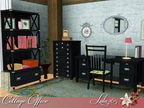 Sims 3 — Cottage Office by Lulu265 — A home office should be functional, but not at the expense of character, or even a