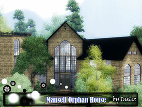 Sims 3 — Mansell Orphan House by Ineliz — Everyone knew Mr. Mansell as a kind and generous person. This man was one of