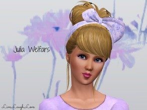 Sims 3 — Julia Welfars by LiveLaughLove4 — Julia Welfars just graduate high school and is really to hit the city! She is