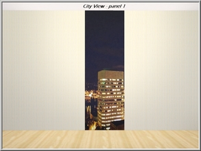 Sims 3 — City View panel 1_marcorse by marcorse — View of city highrise buildings at night. Wall-set- panel 1 of 3.