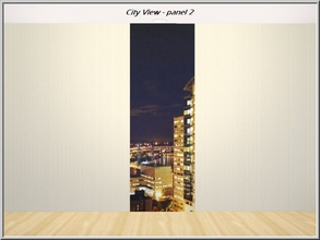 Sims 3 — City View panel 2_marcorse by marcorse — View of city high rise at night. Wall-set - panel 2 of 3