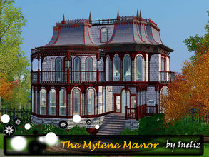 Sims 3 — The Mylene Manor by Ineliz — Walk those rooms covered with panel walls, dusty carpets and polished wood floors.