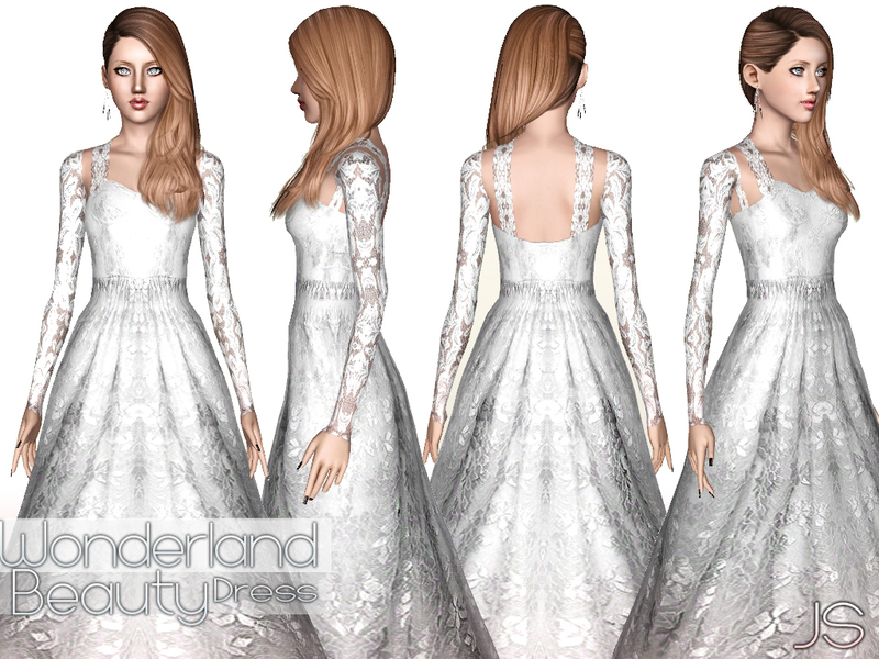 Javasims Wonderland Beauty Wedding Dress