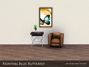 Sims 3 — Painting Blue Butterfly by Jenn_Simtopia — Painting Blue Butterfly
