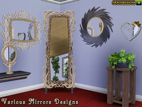 Sims 3 — Various Mirrors Designs by Canelline — The little extra thing that will make your home more charming and cosy,