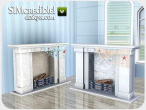 Sims 3 — Coastal Dining Fireplace by SIMcredible! — by SIMcredibledesigns.com available at TSR