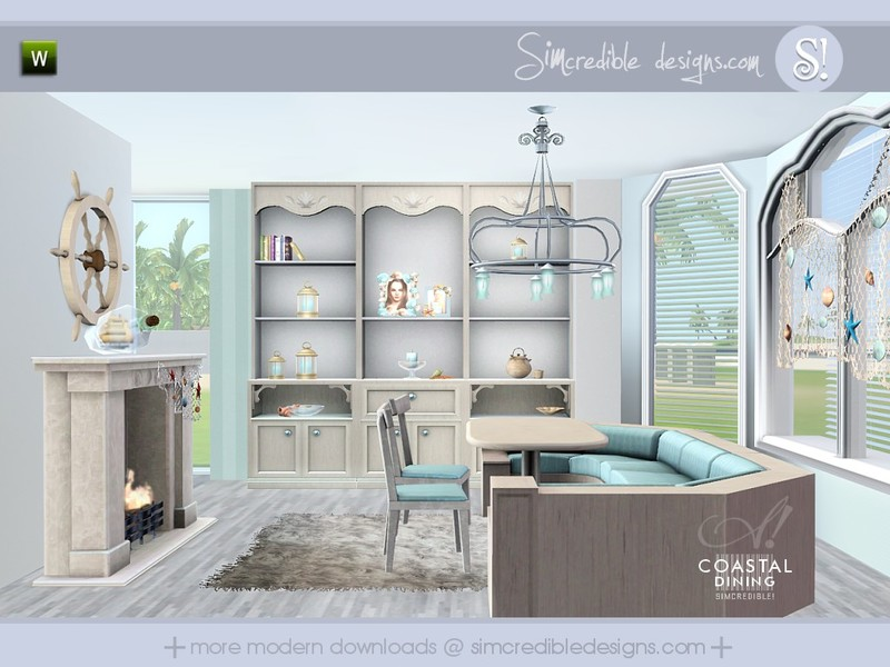 SIMcredibles Coastal Dining Room