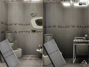 Sims 3 — Contemporary Bathroom Wall 1 by Devirose — Two walls inside.Elegant and chic, ideal for bathrooms and modern