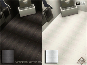 Sims 3 — Contemporary Bathroom Tile 2 by Devirose — Two tiles inside.Elegant and chic, ideal for bathrooms and modern