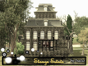 Sims 3 — Stange Estate by Ineliz — Polished wooden floors, creaking doors, paneled wooden walls and printed wallpapers!