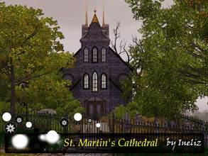 Sims 3 — St. Martin's Cathedral by Ineliz — When your loved ones passed away, there is no better place than to bury them