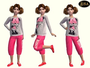 Sims 2 — ASA_Dress_129_CF by Gribko_Sveta — Jacket with a mouse and bridges for children TS2