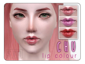 Sims 3 — [ Chu ] - Lip Colour by Screaming_Mustard — Cute kawaii lip colour for your Sims with a natural glossy
