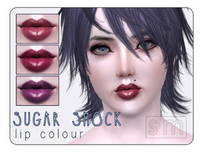 Sims 3 — [ Sugar Shock ] - Lip Colour by Screaming_Mustard — A deep lustrous lip colour for your sims.