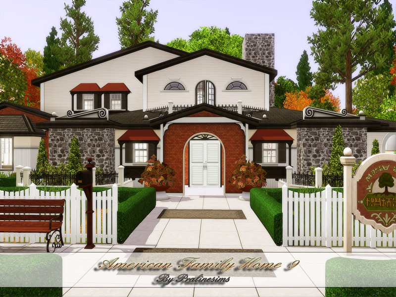 Pralinesims 39 american family home 9 for American family homes