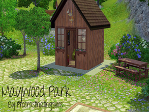 Sims 3 — Maywood Park by Procrastinating_Sims — This lovely park has everything your child sim could ask for! A sandbox,