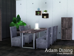 Sims 3 — Adam Dining by Angela — Adam Dining, a new diningroom matching the recently published Adam Living. This set