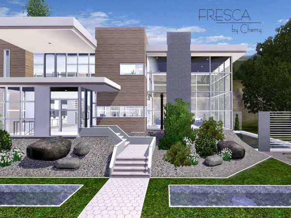 Chemy 39 s fresca modern for Sims 4 modern house plans