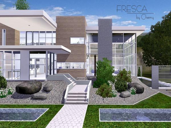 Chemy 39 s fresca modern for Sims 4 modern house blueprints