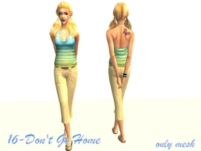 Sims 2 — 16-Don\'t Go Home - Mesh by Well_sims — Mesh for you :)