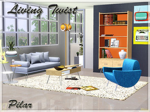 Sims 3 — Living Twist by Pilar — The look of the vintage details for a contemporary decor
