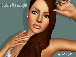 Sims 3 — Carmella Knight by MartyP — Carmella just came out from college and she just started a new business. Very