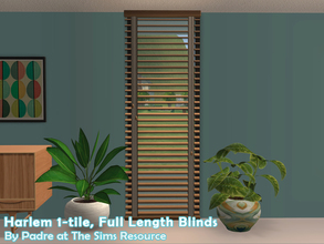 Sims 2 — Harlem II - Blinds 1-tile Full Length by Padre — More Mid Century style items for your cool mid-century sims